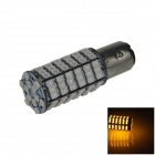 1157 / BAY15D 6W 600lm 120 x SMD 3528 LED Yellow Car Steering Light / Brake / Backup Lamp - (12V)