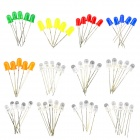 exLED 5mm LED Light Emitting Diode Element Set - (60 PCS)