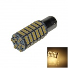 1157 / BAY15D 6W 600lm 120-SMD 3528 LED Warm White Car Steering Light / Brake / Backup Lamp - (12V)