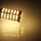 1157 / BAY15D 6W 600lm 120-SMD 3528 LED Warm White Car Steering / luz de freio / Lamp Backup - (12V)