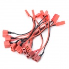 JST Female to T Female Silicone Wire - Black + Red (10 PCS)