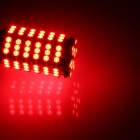 1157 / BAY15D 6W 600lm 120 x SMD 3528 LED Red Car Steering Light / Brake / Backup Lamp - (12V)