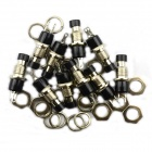 BONATECH 2-Pin metal Button Switch Holder sin bloqueo - Negro + Plata (10 PCS)