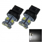7443 / 7440 / T20 1W 100lm 8 x SMD 5050 LED White Car Steering / Brake / Tail Light - (12V / 2 PCS)