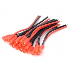 3.5mm Banana Plug w/ Protective Sleeve Silicone Wire - Black + Red (10 PCS)