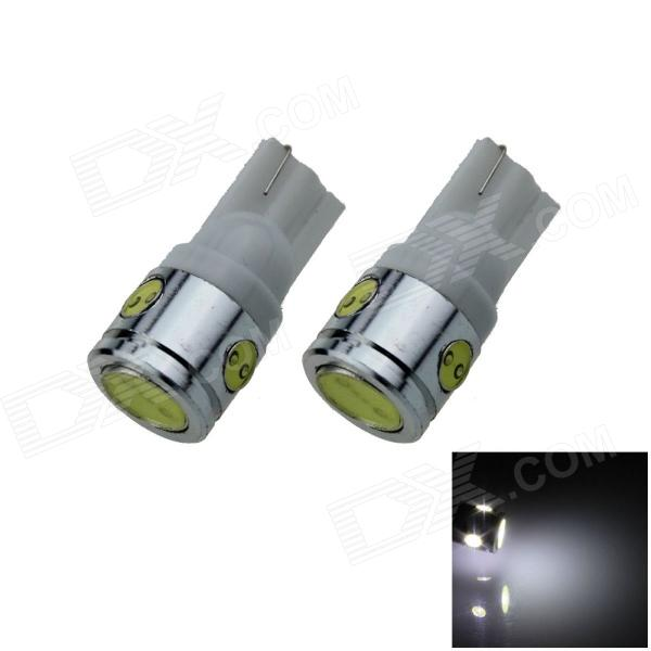 T10 / 194 / 168 / W5W 2.5W 180lm 4-LED White Car Steering Light / Side / Head Lamp - (12V / 2 PCS)