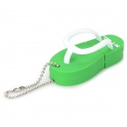 RYVAL Flip-Flops Style Water Resistant USB 2.0 Flash Drive - Green + White (8GB)
