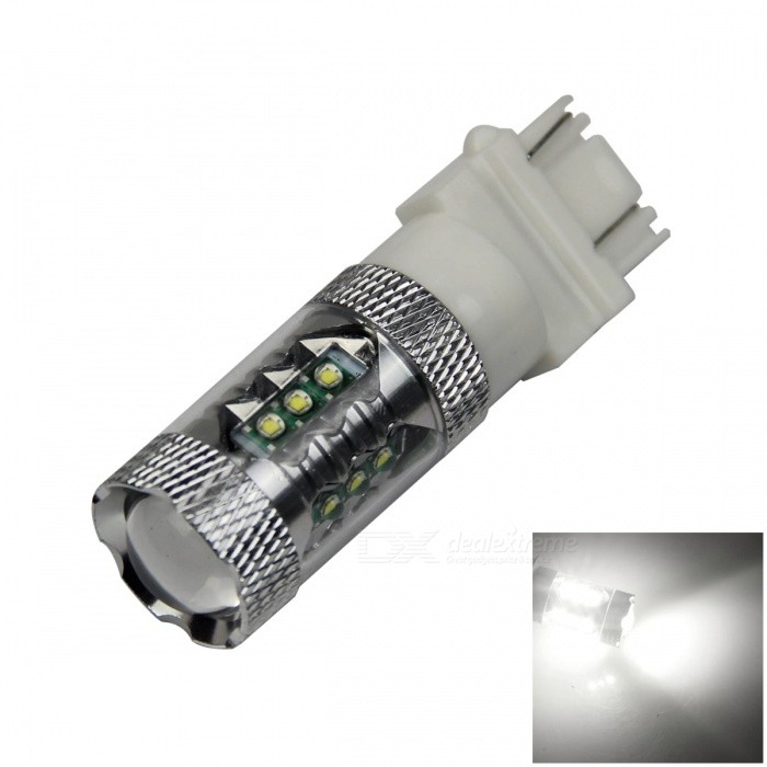 3157/3156 80W 900lm 16-LED hvit bil Brake Lys / betjening / Backup Lamp - (12 ~ 24V)