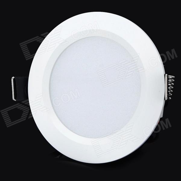 HUGEWIN HTD686W 5W 300lm 6500K 10 SMD 5730 LED White Light Ceiling Lamp - White (85~265V) lexing lx r7s 2 5w 410lm 7000k 12 5730 smd white light project lamp beige silver ac 85 265v