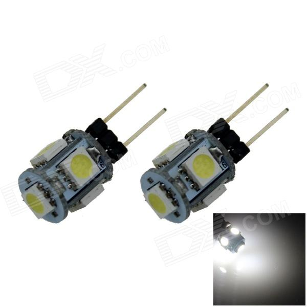 G4 1W 80lm 5-SMD 5050 LED Cold White Car Instrument / Reading Lamp