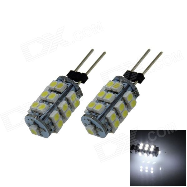 G4 2.5W 180lm 6500K 25 x SMD 1210 LED White Light Car Instrument Lamp - (DC 12V / 2 PCS) g4 6w 500lm 6000k 120 smd 1210 led white light car instrument reading lamp dc 12v