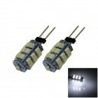 G4 2.5W 180lm 6500K 25 x SMD 1210 LED White Light Car Instrument Lamp - (DC 12V / 2 PCS)