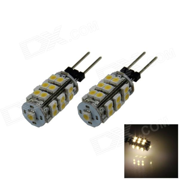 G4 2.5W 180lm 3000K 25 x SMD 1210 LED Warm White Light Car Instrument Lamp - (DC 12V / 2 PCS) - DXOther Car LED Bulbs<br>High brightness energy-saving easy to install; Lifetime: more than 50000 hours; The power count by theoretical power of LED. Because we add the resistance to protect the LED. So the actual output power is less than of the theoretical power.<br>