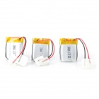 Universal Replacement 3.7V 180mAh 20C Battery for Helicopter Toy - White Silver (3 PCS)
