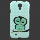 Sleepy Owl Style Protective TPU Back Case for Samsung Galaxy S4 i9500 - Green