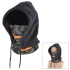 SAHOO 46867-780 Multifunction Windproof Warm Fleece Masked Cap - Black + Blue (Free Size)