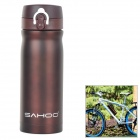 SAHOO 52469 Bicycle Stainless Steel Dual-Layer Vacuum Insulation Cup - Brown (350mL)