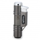 STHJ001 Double Head Butane Jet Lighter - Deep Grey + Silver White