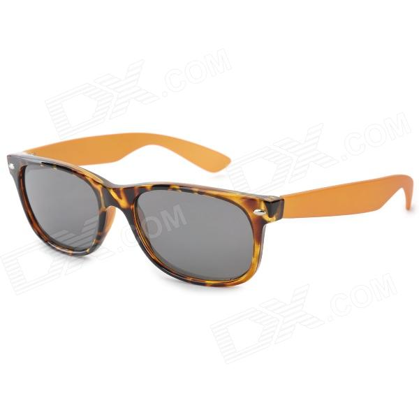 OREKA DY775 Retro Style Fashionable PC Lens UV400 Protection Sunglasses - Brown + Grey retro women sunglasses polarized driving sun glasses with pc metal hinge shades uv400 protection gafas de sol mujer 4 colors