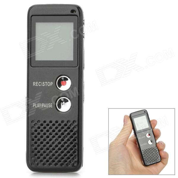 Thchi YMX-R39 1.6 LCD Screen Rechargeable Digital Voice Recorder w/ MP3 Player - Black best battery brand mp3 mp4 free shipping 3 7v lithium battery 061530 601533 250mah mp4 mp5 voice recorder small toys gps 37v