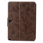 Protective PU Flip-Open Case w/ Auto-Sleep for Samsung Galaxy Note 10.1 P600 - Brown