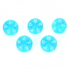 Acrylic Polyhedral Dice for Board Game - Translucent Light Blue (5 PCS)