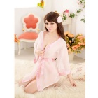 Fashion Sexy Pajamas Bathrobe - Apricot (Free Size)