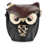 LKMTY-1 Fashion Cute Owl Style PU Leather Messengers for Women - Black