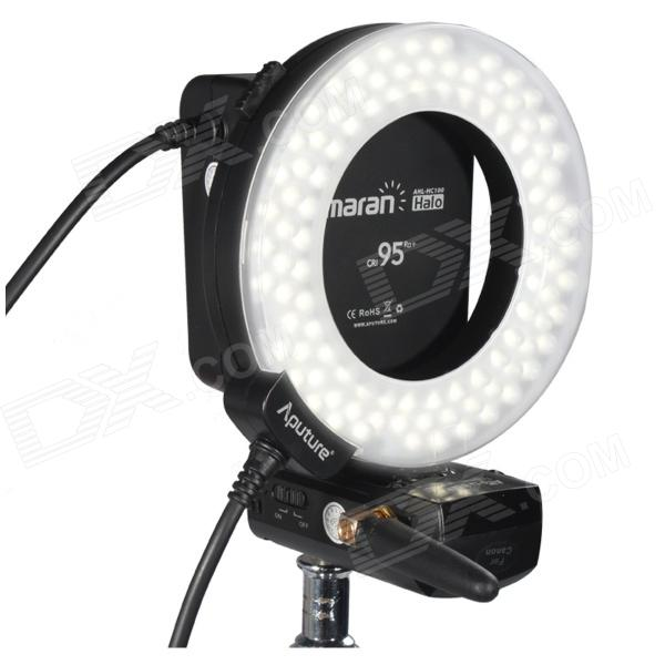 Aputure Amaran HN100 CRI 95+ Halo Ring 6W 1020lm 5500K 100-LED Flash Lamp for Nikon Cameras - Black sho me lh sl h11 комплект головного света