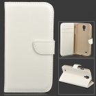 DYTI-007 Protective Flip Open PU + PC Case for Samsung i9500 - White