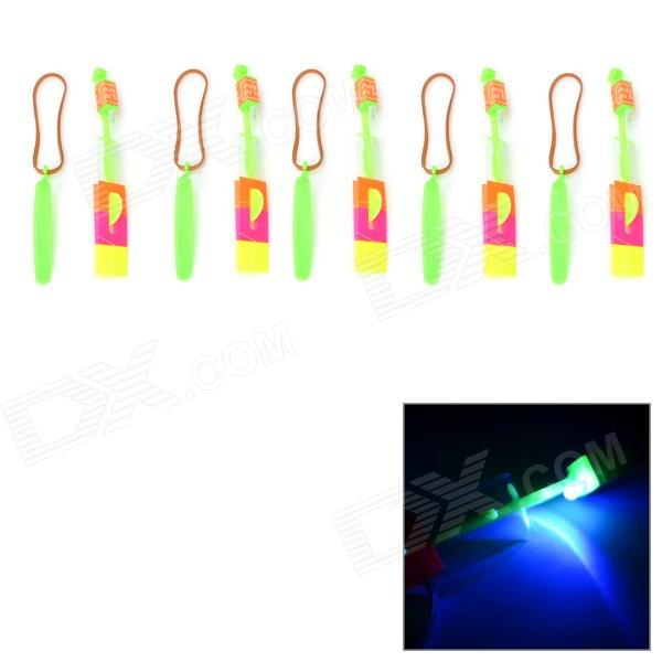 Amazing LED Arrow Helicopter Funny Toy - Green + Orange + Multi-Colored (5 PCS)