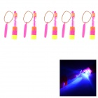 Amazing LED Arrow Helicopter Funny Toy - Orange + Deep Pink (5 PCS)
