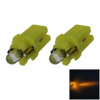 B8.3 0.1W 18lm LED Yellow Light Car Dashboard Lamp / Instrument Light - (DC 12V / 2 PCS)