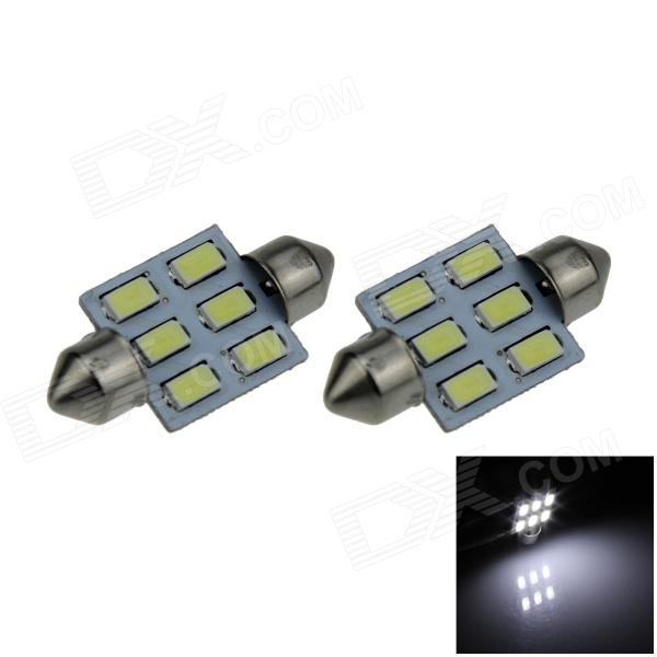 цены на Festoon 36mm 3W 300lm 6-SMD 5630 LED White Car Reading Light / Roof Lamp / Dome Bulb - (12V / 2 PCS) в интернет-магазинах