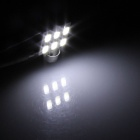 Festoon 36 milímetros 3W 300lm 6-SMD 5630 LED Branco Car Light Reading / Telhado Lamp / Dome Bulb - (12V / 2 PCS)