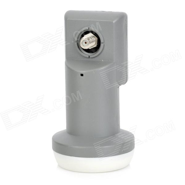 SR-320 Universal Dual Polarization Ku Waveband LNB for Digital Receiver - White + Grey