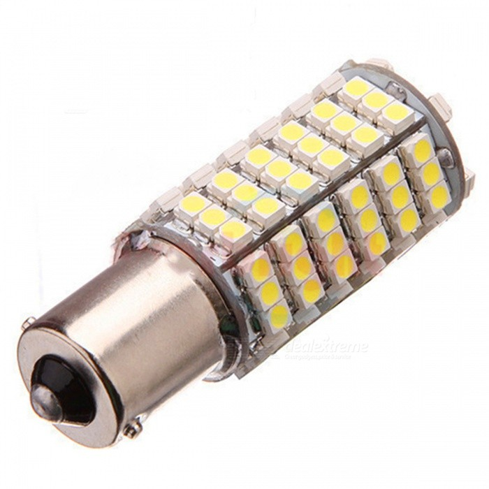 1156 / BA15S 6W 600lm 120 x SMD 3528 LED Yellow Car Steering Light / Tail / Backup Lamp - (12V) 7443 7440 t20 6w 200lm 18 x smd 5050 led yellow car steering brake backup tail light 12v
