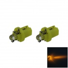 B8.5 0.1W 18lm LED Yellow Light Car Dashboard Lamp / Instrument Light - (DC 12V / 2 PCS)