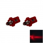 B8.5 0.1W 18lm LED Red Light Car Dashboard Lamp / Instrument Light - (DC 12V / 2 PCS)