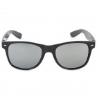 A26 Plastic Frame Grey Lens UV400 Protection Sunglasses - Black