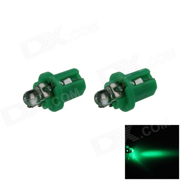 B8.5 0.1W 18lm LED Green Light Car Painel Lamp / Instrumento Light - (DC 12V / 2 PCS)