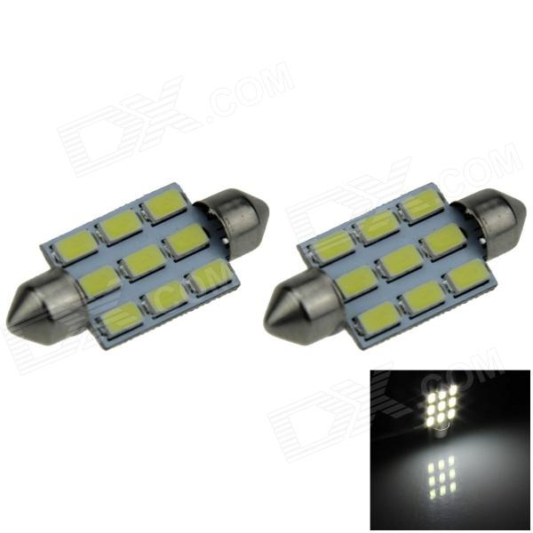 Festoon 39mm 4W 350lm 9 x SMD 5630 LED White Car Reading Light / Roof Lamp / Dome Bulb (12V / 2 PCS) kamlesh kumar surender singh and diwan singh climatic variability and wheat productivity