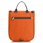 LKLR 6601 Outdoor Travel Nylon Zipper Wash Bag - Orange