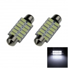 Festoon 41mm 6W 500lm 12 x SMD 5630 LED White Car Reading Light / Indicator lamp - (12V / 2 PCS)