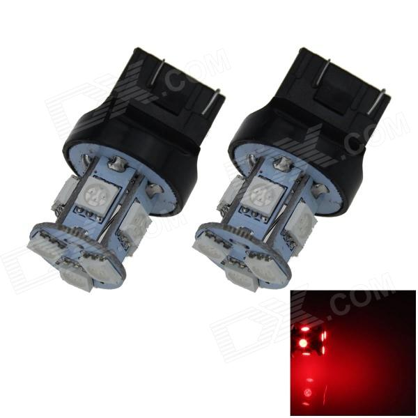 7443/7440 / T20 1W 100lm 8 x SMD 5050 Red Car LED de dirección / freno / luz de la cola - (12V / 2 PCS)