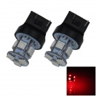 7443 / 7440 / T20 1W 100lm 8 x SMD 5050 LED Red Car Steering / Brake / Tail Light - (12V / 2 PCS)