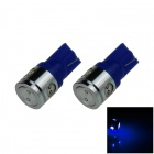 T10 / 194 / 168 / W5W 2.5W 180lm 4-LED Blue Car Steering Light / Side / Head Lamp - (12V / 2 PCS)
