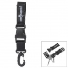 Free Soldier FS-KK01 Outdoor Mountaineering 1000D Nylon Quick Release Buckle w/ Carabiner - Black
