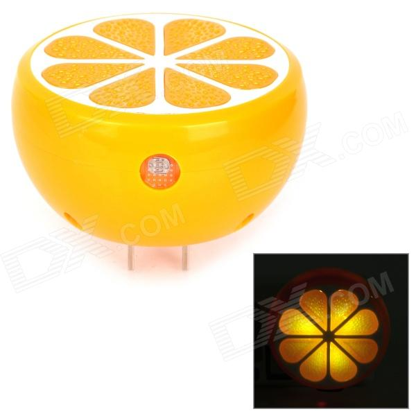 DP LED-405 Orange Style Light-operated 0.2W 25lm 3-LED Nightlight - Orange (US Plugs / 90 ~ 240V)