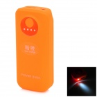 Cool Orange Universal 3000mAh Rechargeable Li-ion Portable Power Bank - Orange